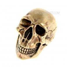 Helmi Skull (nickel silver) bead2 1.4cm