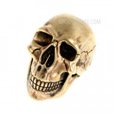 Lanyard bead Skull (nickel silver) bead2 1.4cm