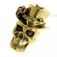 Abalorio Skull in hat (nickel silver) bead1 1.8cm