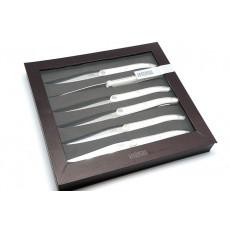 Steak knife Tarrerias-Bonjean Set of 6 Laguiole Evolution White  449182 10cm