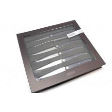 Нож для стейка Tarrerias-Bonjean Набор из 6 шт Laguiole Sens, темно-фиолетовые 449186 10см