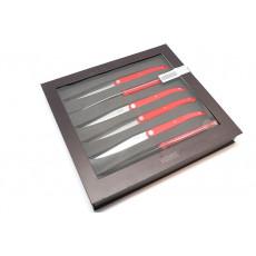 Steak knife Tarrerias-Bonjean Set of 6 Laguiole Sens Red  449183 10cm