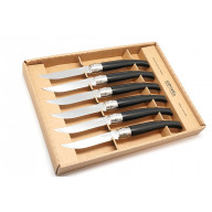 Steak knife Opinel Set of 6, Ebony handle  ОО1461 10cm