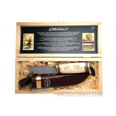 Финский нож Marttiini Damascus в подарочной коробке 557010W 11см