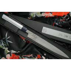 Японский кухонный нож Янагиба Seki Kanetsugu Heptagon-Silver для суши 8022 24см