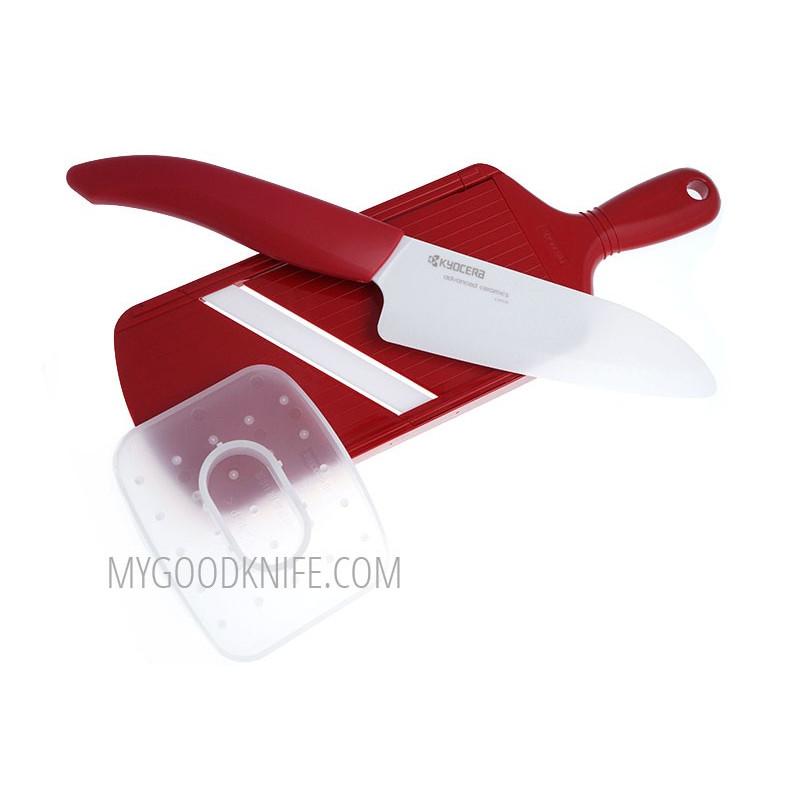 Керамический кухонный нож Kyocera в наборе FK140WH+CSN202 SET-RD - 1