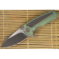Folding knife We Knife Valiant Green 717E 7.8cm