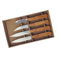Kitchen knife set Opinel Olive 4 Essentials Box 002163