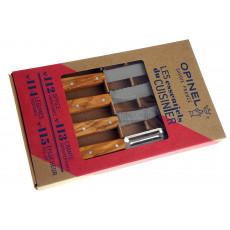 Kitchen knife set Opinel Olive 4 Essentials Box 002163 - 2