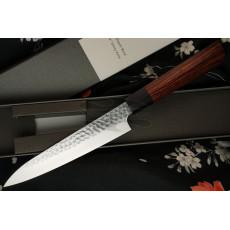 Japanese kitchen knife Seki Kanetsugu Heptagon-Wood Petty 9102 15cm