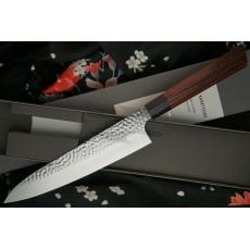 Японский кухонный нож Гьюто Seki Kanetsugu Heptagon-Wood 9105 21см