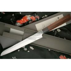 Bread knife Seki Kanetsugu Heptagon-Wood 9134 21cm