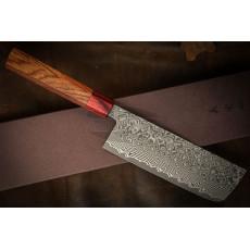 Японский кухонный нож Накири Yoshimi Kato Nickel Damascus SG2 D1703 16.5см