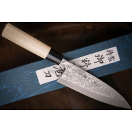 Deba Japanese kitchen knife Hideo Kitaoka 11 Layered Shirogami CN1203 16.5cm