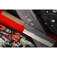 Nakiri Japanese kitchen knife Ittetsu Shirogami IW11834 18cm