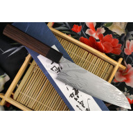 Santoku Japanese kitchen knife Shiro Kamo G-0103 16.5cm
