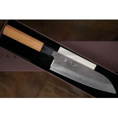 Японский кухонный нож Сантоку Yoshimi Kato Ginsan D-702CW 17см