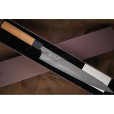 Японский кухонный нож Суджихики Yoshimi Kato Ginsan D-707CW 27см