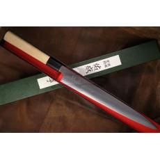 Japanilainen viipalointiveitsi Sujihiki Sukenari 3 layers ZDP189 S-116 27cm