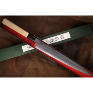 Sujihiki Japanese kitchen knife Sukenari 3 layers ZDP189 S-116 27cm