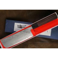 Nakiri Japanese kitchen knife Shiro Kamo 11 layers Shirogami G-0110 16.5cm