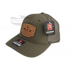Gorra Buck Trucker Green Leather Patch 89139