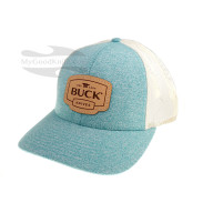 Cap Buck Womens Trucker White/Turquoise 89140