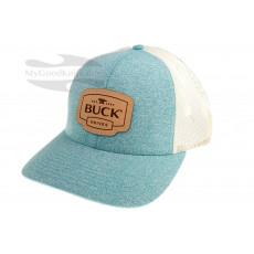 Lippis Buck Womens Trucker White/Turquoise 89140
