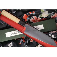 Japanilainen keittiöveitsi Santoku Sukenari Aogami Super S-410 19cm