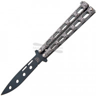 Training knife Bear&Son Silver Powder Coat 115TR 8.5cm