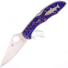 Folding knife Spyderco Custom Delica Yellowhorse Salmon CH731 7.4cm