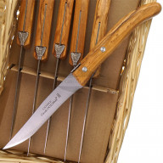 Steak knife Claude Dozorme Set of 6 pcs in basket 7.40.001.89
