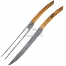 Veitsisetti Claude Dozorme Thiers carving set 2 pcs Olive 2.90.032.89 19.5cm