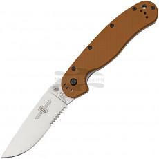 Серрейторный нож Ontario RAT- 1 Coyote Brown Handle 8849CB 8.9см