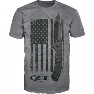 T-shirt Zero Tolerance USA flag Gray S ZT201S