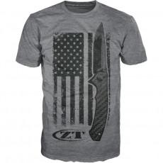 T-paita Zero Tolerance USA flag Gray ZT201