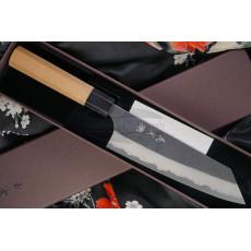 Japanisches Messer Yoshimi Kato Bunka Aogami Super S/S clad Cherry D-910 17cm