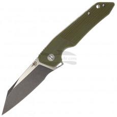 Taschenmesser Bestech Barracuda Black stonewash Green G-10 BG15B-2 8.9cm