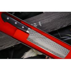 Japanilainen vihannesveitsi Nakiri Ittetsu Black Pakka wood IWY-9003 16cm