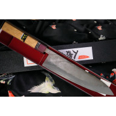 Japanilainen kokkiveitsi Gyuto Goko Hamono Shirogami S/S Clad GHO-007 24cm