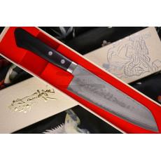 Japanilainen keittiöveitsi Santoku Kunio Masutani VG-10 Damascus Pakka M-3241 17cm