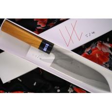 Japanilainen keittiöveitsi Santoku Gihei Hamono Aogami 2 GH-402 16.5cm