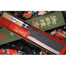 Japanilainen vihannesveitsi Nakiri Gihei Hamono Aogami 2 Iron clad GH-501 16.5cm