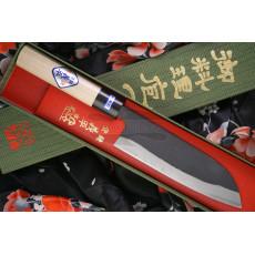 Japanilainen keittiöveitsi Santoku Gihei Hamono Aogami 2 Iron clad GH-502 16.5cm