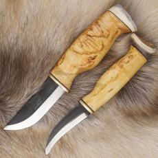 Финский нож Wood Jewel Nylky/Skinner double knife 23NA 9см