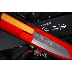 Японский кухонный нож Сантоку Yu Kurosaki Shizuku R2 Keyaki ZR-165SA 16.5см
