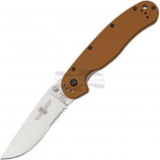 Sahalaitainen kääntöveitsi Ontario RAT-1 Coyote Brown Handle 8849CB 9.1cm