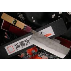 Japanilainen vihannesveitsi Nakiri Goko Hamono Shirogami S/S Clad GHO-004 16.5cm