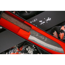 Japanilainen keittiöveitsi Santoku Yu Kurosaki Fujin Super Aogami ZAF-165SA 16.5cm