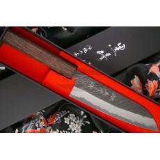 Santoku Japanese kitchen knife Yu Kurosaki Super Aogami ZAF-165SA 16.5cm